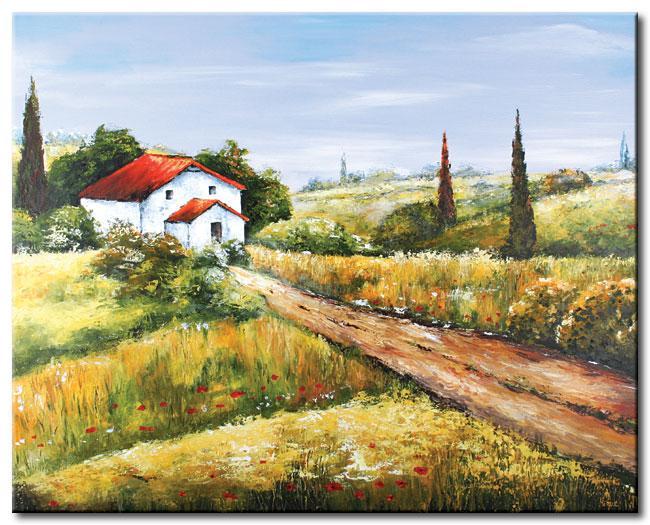Foto pintura moderna camino a casa 90 x 70 foto 265034 for Pintura casa moderna