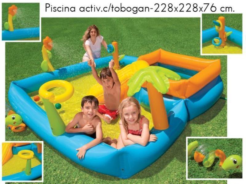 Foto piscina activity c tobogan 229x229x76cm 58466 foto 107970 for Tobogan piscina