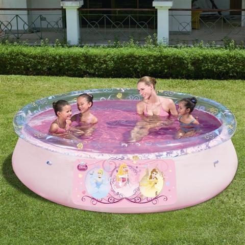Foto piscina bestway fast set 244x66cm con licencia disney for Piscina best way