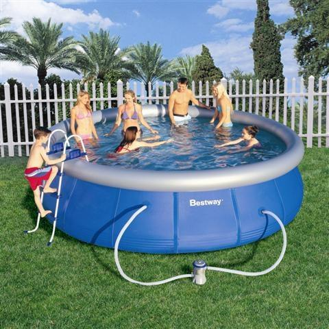 Foto piscina bestway tubular rectangular azul 400 x 211 x for Piscina tubular rectangular