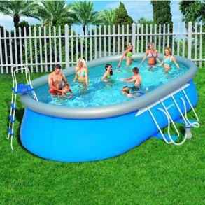 Foto piscina bestway rectangular frame 412x201x122 56244 for Piscina desmontable rectangular bestway
