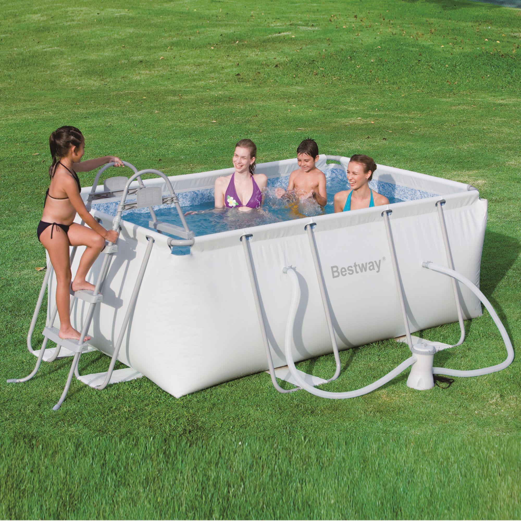 Foto piscina desmontable 427x122 cm bestway 56263 foto 325861 for Piscina desmontable rectangular bestway