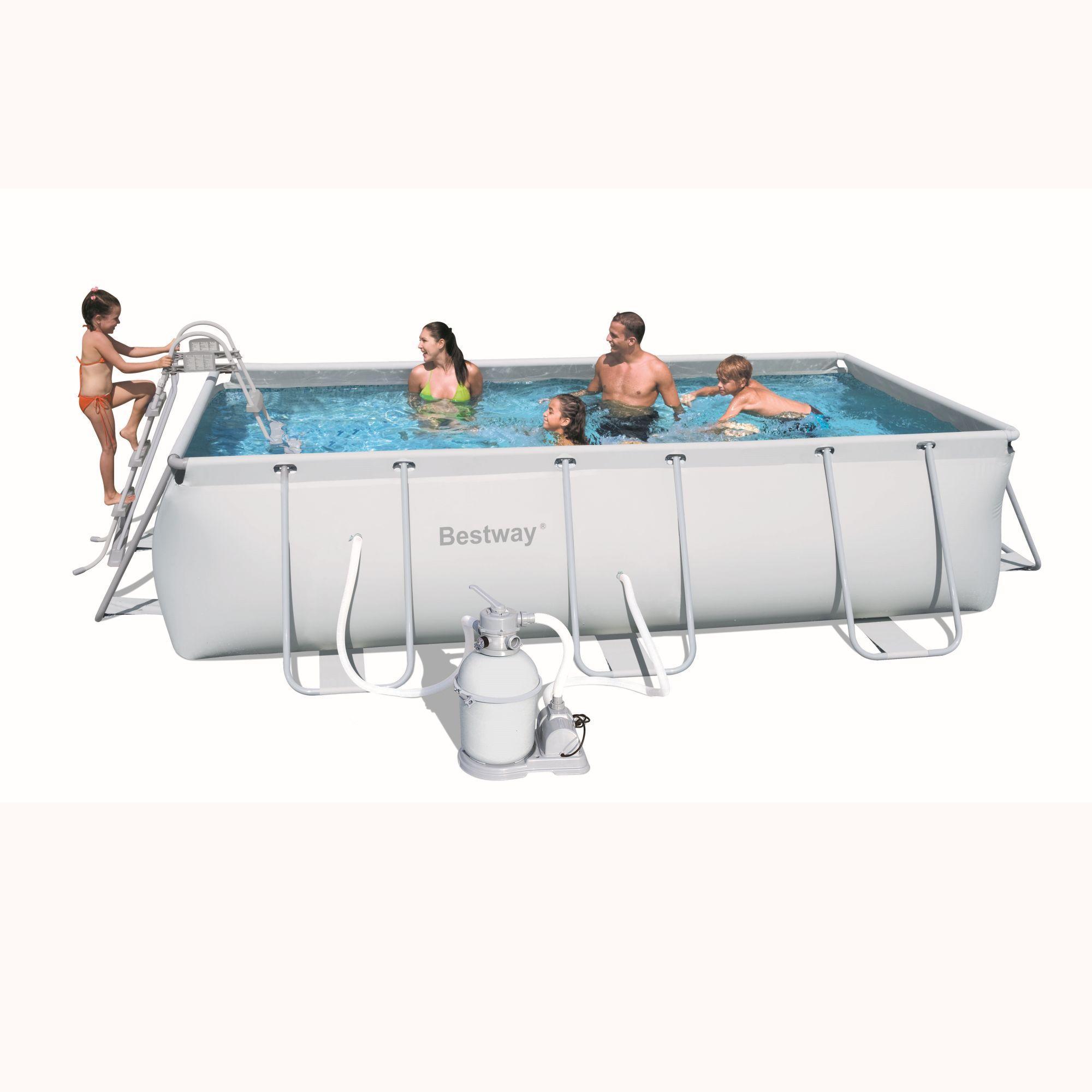 foto piscina bestway rectangular frame 404x201x100 56255