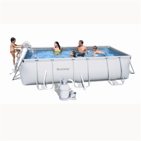 Foto piscina bestway rectangular frame 404x201x100cm con for Piscina hinchable rectangular con depuradora