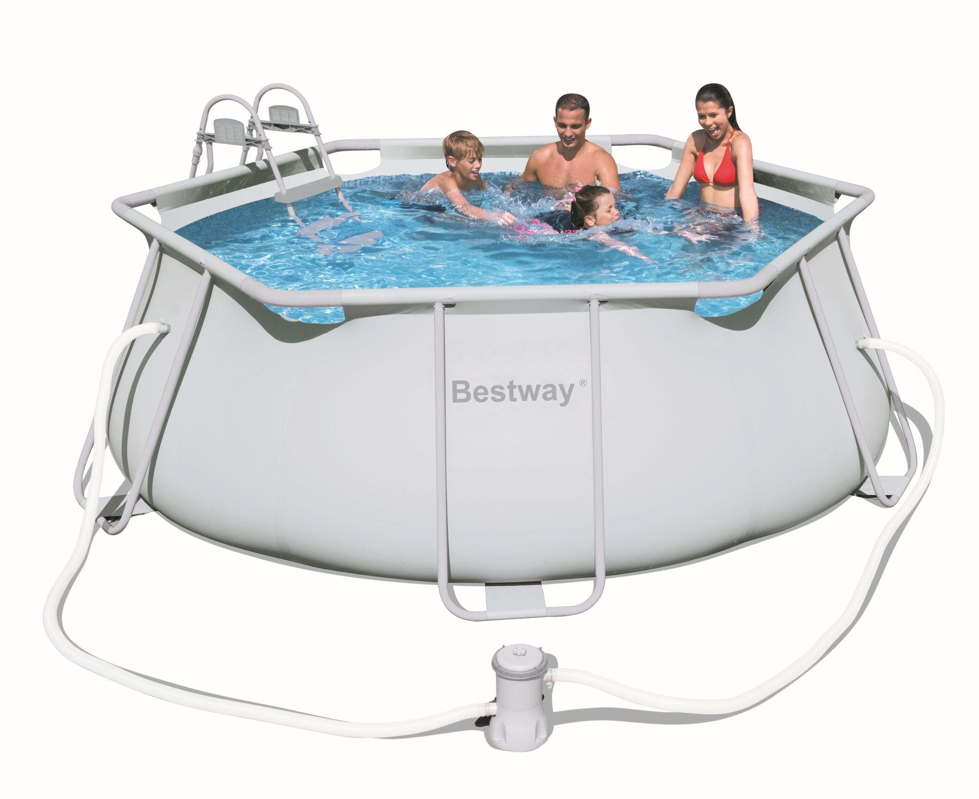 Foto piscina ultrareforzada steel pro 427 x 122 cm bestway for Garten pool 457x122