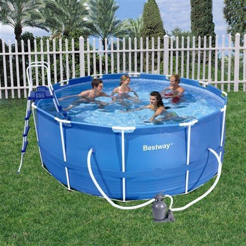 Foto piscina bestway rectangular frame 287x201x100 cod for Depuradora piscina arena