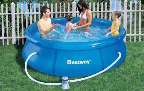 Foto piscina con depuradora de 244 x 76 cm bestway foto 409035 - Depuradora piscina hinchable ...