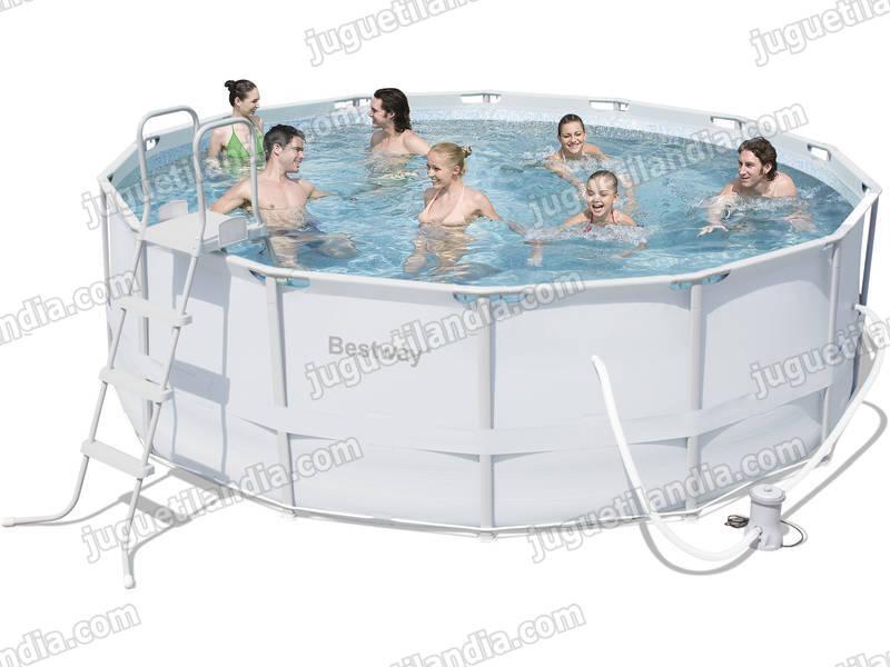 Foto piscina desmontable 427x122 cm bestway 56263 foto 325861 for Cubre piscina bestway