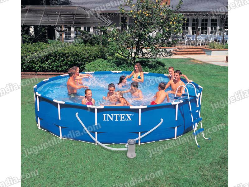 Foto piscina desmontable 457x91 cm intex 56942 foto 409087 - Cubre piscinas intex ...