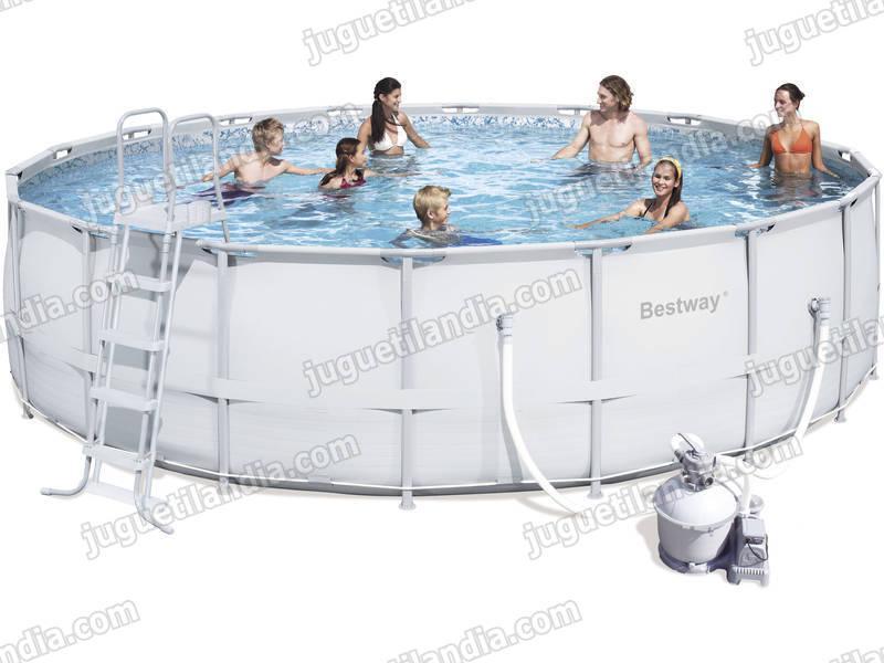 Foto piscina bestway rectangular frame 549x274x122cm con for Piscina desmontable rectangular bestway