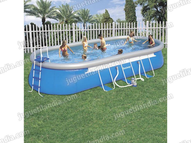 Foto piscina desmontable 732x366x122 cm bestway 56125 for Cubre piscina bestway