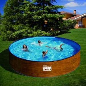 Foto piscina desmontable acero gre serie menorca redonda 450 kitwpr45w por foto 154924 - Piscina desmontable acero ...