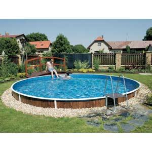 Foto piscina eleveda ovalada azuro 407 foto 794555 - Piscina desmontable enterrada ...