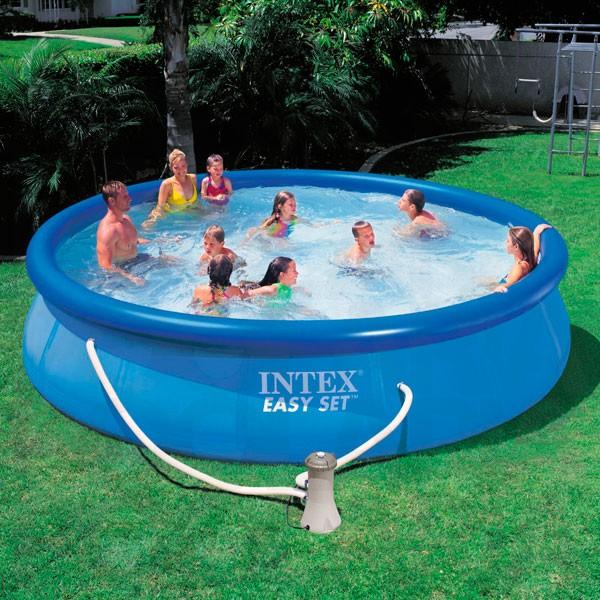 foto piscina intex easy set 457 x 91 cm foto 389053. Black Bedroom Furniture Sets. Home Design Ideas