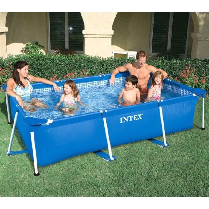Foto piscina intex rectangular 300x200x75cm foto 162570 for Piscina hinchable cuadrada