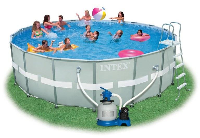 Foto piscina intex ultra frame 488x122cm con depuradora - Fotos de piscinas intex ...