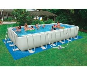 Foto piscina intex ultra frame rectangular 732x366x132 for Limpiafondos piscina intex