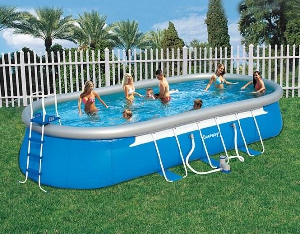 Foto piscina bestway rectangular frame 549x274x122cm con for Piscina hinchable rectangular con depuradora