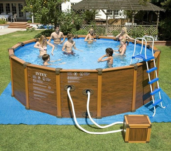 foto piscina panel resina intex sequoia spirit 478x124cm