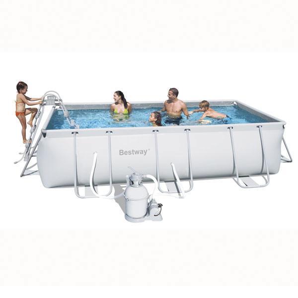 Foto piscina desmontable 412x201x122 56244 foto for Piscina desmontable rectangular bestway