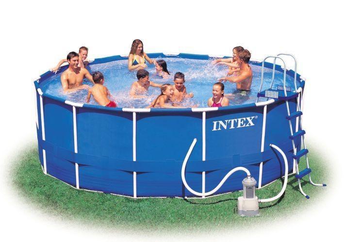 Foto piscina tubular intex metal frame 457x122 cm foto 162568 for Piscina tubular intex