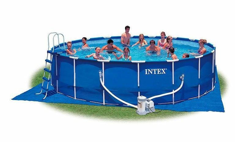Foto piscina tubular intex metal frame 457x91cm foto 162571 for Piscina tubular
