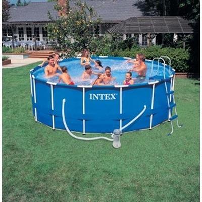Pin fotos de intex piscinas metal frame imagenes on pinterest for Piscina tubular intex