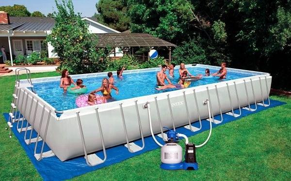 Foto piscina rectangular 975x488x132 cm intex 54990 foto - Cubre piscinas intex ...
