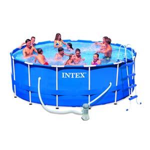Foto piscina tubular metal frame intex 366 x 76 cm foto 371003 for Piscina tubular intex