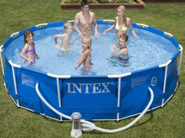Foto piscina tubular redonda intex 366x76 cm foto 162558 for Alberca intex redonda