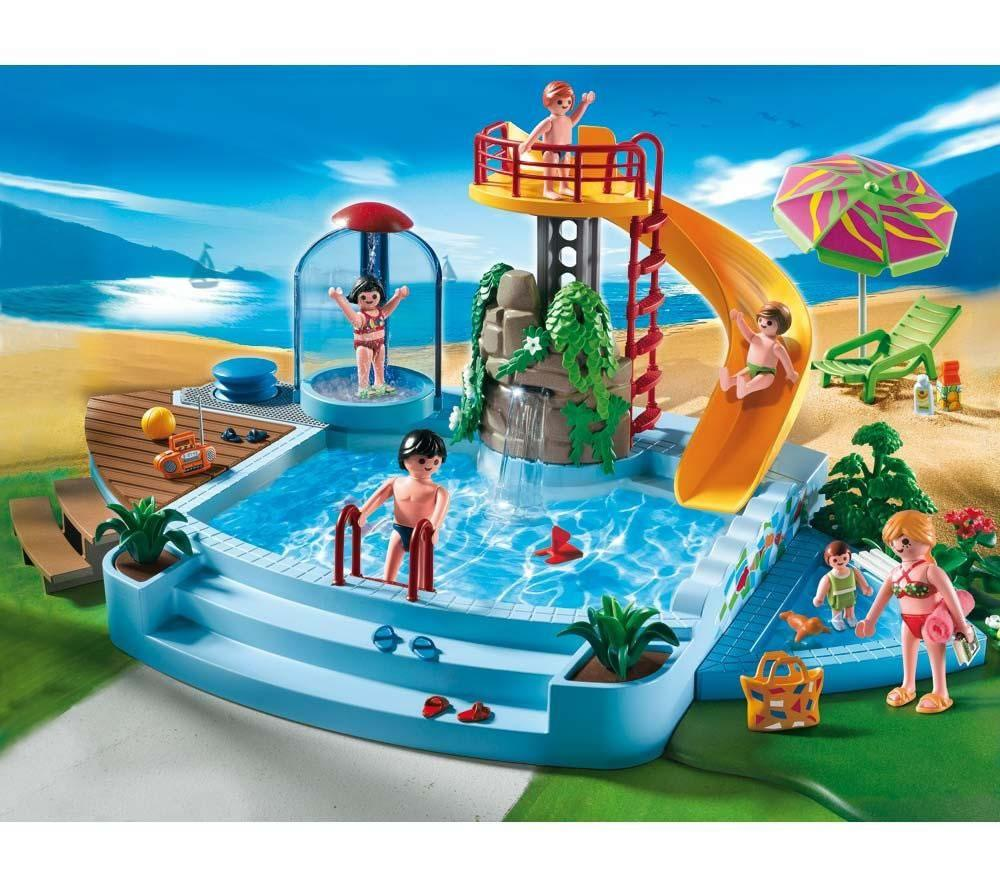 Foto playmobil 4858 piscina con tobog n foto 455041 for Playmobil piscina con tobogan