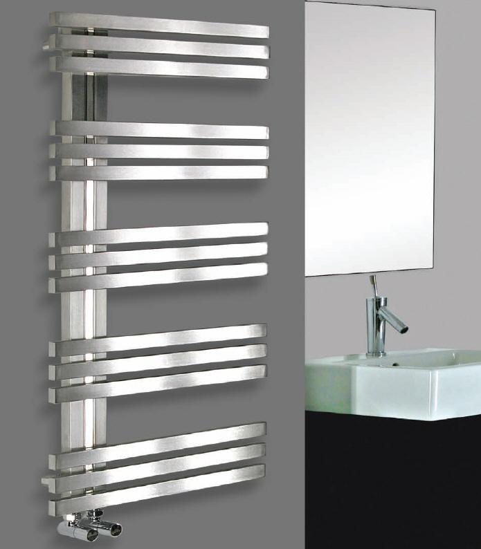 foto radiador toallero de acero inoxidable modelo alias de