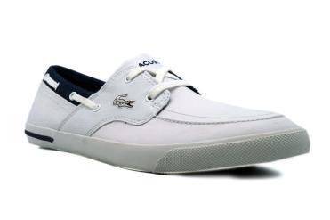 Foto Rebajas de zapatos de hombre Lacoste RAMBER BOAT,LACOSTE blanco