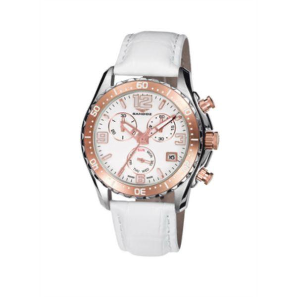 ffc0332419af Foto reloj cronógrafo acero bic ip rosa mujer correa sandoz 81292-90 ...