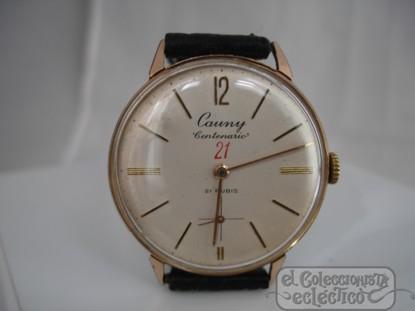 ede611b511bd Foto reloj de pulsera. cauny centenario 21. chapado en oro. suiza ...