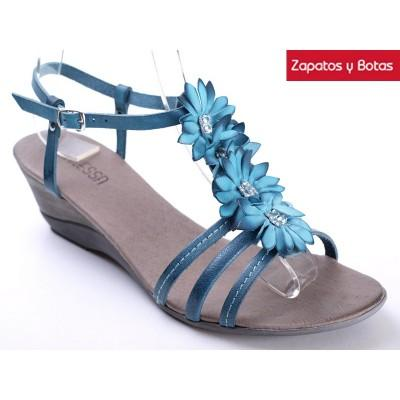 Ziuoxptk Sandalia 938684 Azul Foto Cuña Adanessa b6Yf7gy