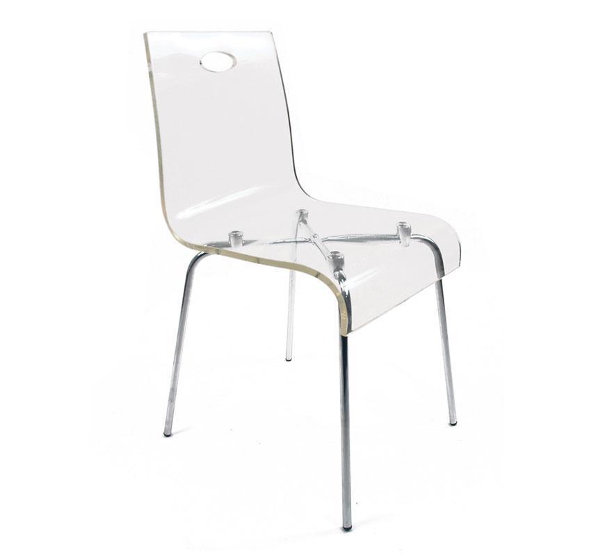 Foto silla de dise o cindy transparente foto 41652 - Sillas de metacrilato transparente ...