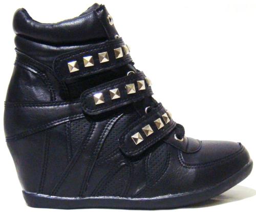 Foto sneaker cu a interior velcro negra 38 rosa foto 305902 - Sneakers cuna interior ...