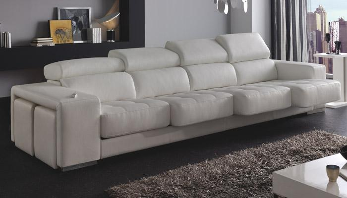Foto sof 3 plazas chaise longue carola foto 752116 for Sofa 4 plazas mas chaise longue