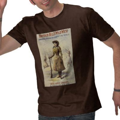 Srta. occidental Annie Oakley de la vaquera del vi Camiseta