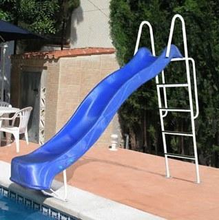 Foto piscina bestway rectangular frame 404x201x100cm con for Toboganes de piscina