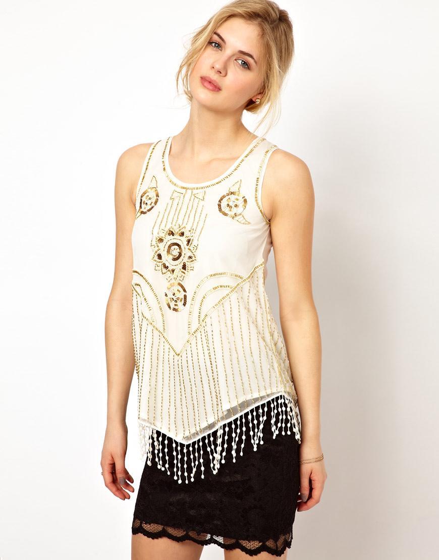 Foto vestido a media pierna cruzado de estilo bailarina de for Foto top