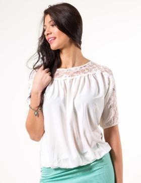 Foto blusa sin mangas con encaje casson top de vila foto for Foto top