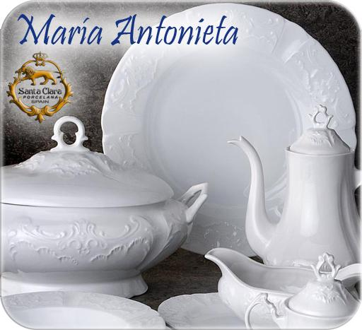 Foto vajilla cl sica 56 piezas maria antonieta blanco for Vajillas porcelana clasicas
