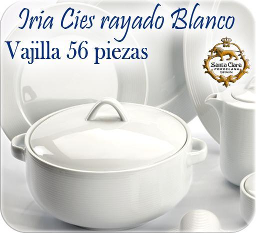 Foto vajilla econ mica 57 piezas iria c es blanco santa for Vajillas porcelana clasicas