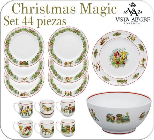 Foto vajilla navidad 44 piezas christmas magic vista - Vajillas vista alegre catalogo ...