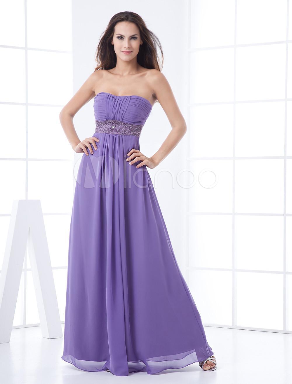 Contemporáneo Damas De Honor Vestidos De Color Lila Reino Unido ...