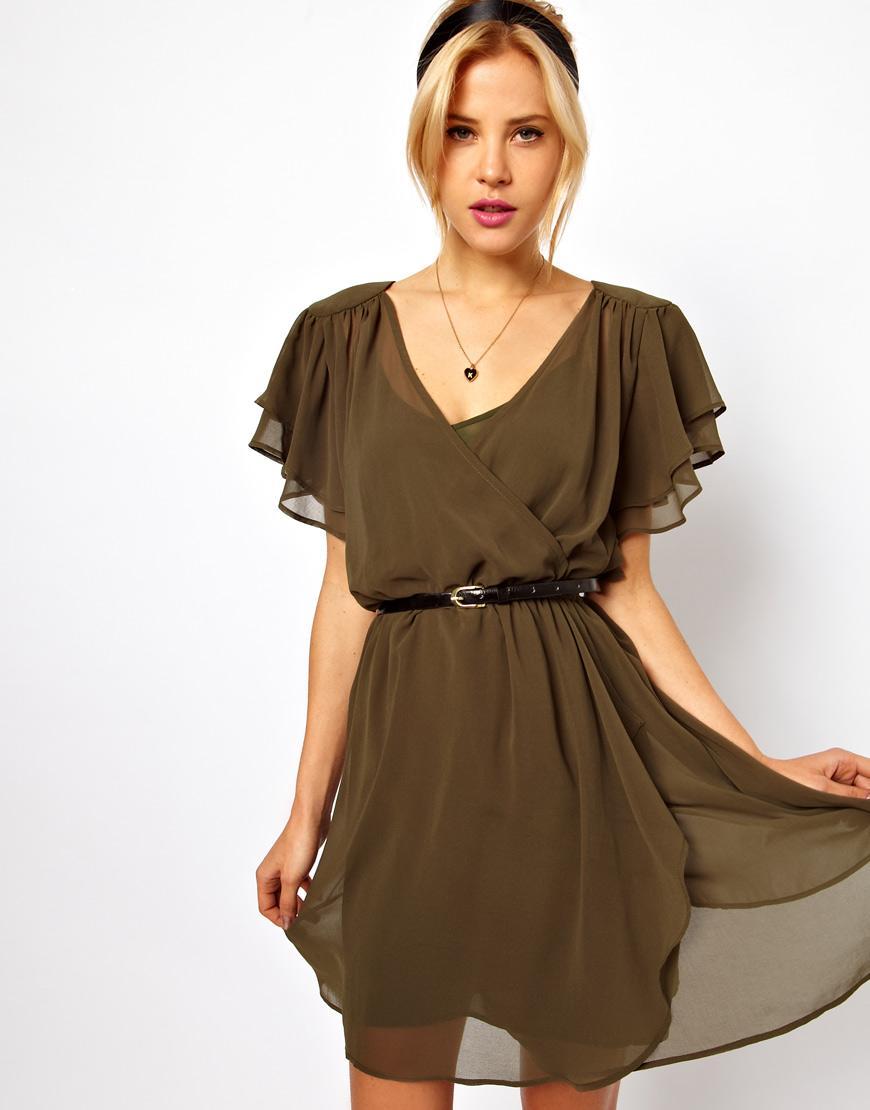 Коктейльные платья из шифона