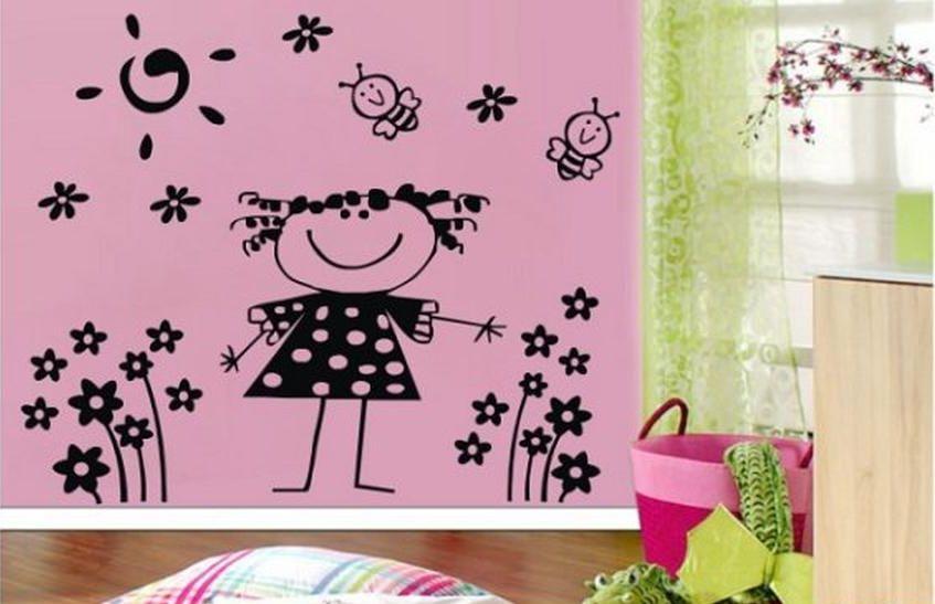 Foto vinilos decorativos infantiles para ni a aqm3044 foto for Vinilos juveniles nina