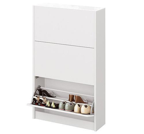 Foto zapatero modelo cannes 3 trampones blanco alto brillo for Mueble zapatero metalico